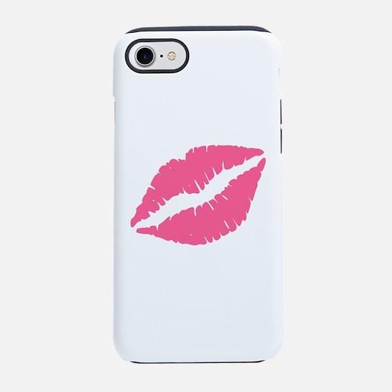 Pink Lips Kiss iPhone 7 Tough Case
