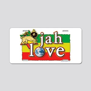Jah Love Aluminum License Plate