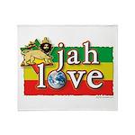 Jah Love Throw Blanket