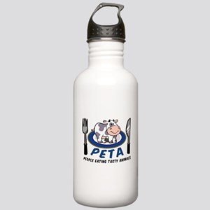 People Eating Tasty Animals Stainless Water Bottle
