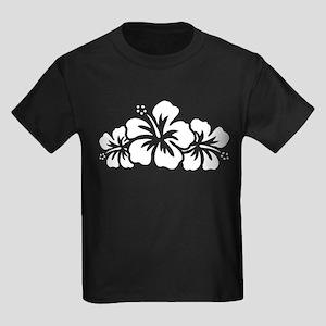 Hawaiian Flower Kids Dark T-Shirt