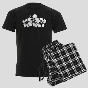 Hawaiian Flower Men's Dark Pajamas