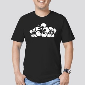 Hawaiian Flower Men's Fitted T-Shirt (dark)