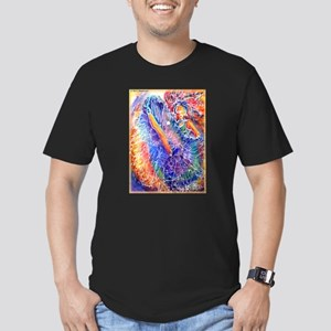 Vegas Dancer, colorful, Men's Fitted T-Shirt (dark