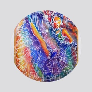 Vegas Dancer, colorful, Ornament (Round)