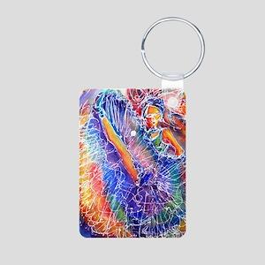 Vegas Dancer, colorful, Aluminum Photo Keychain