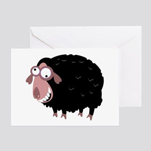Loony Black Sheep Greeting Card