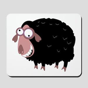 Loony Black Sheep Mousepad