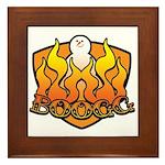 Burning Boogg Framed Tile