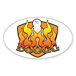 Burning Boogg Oval Sticker