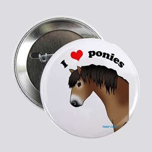 "I love ponies(Exmoor)2.25"" Badge"
