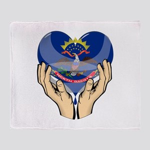 Helping Hands for North Dakot Throw Blanket