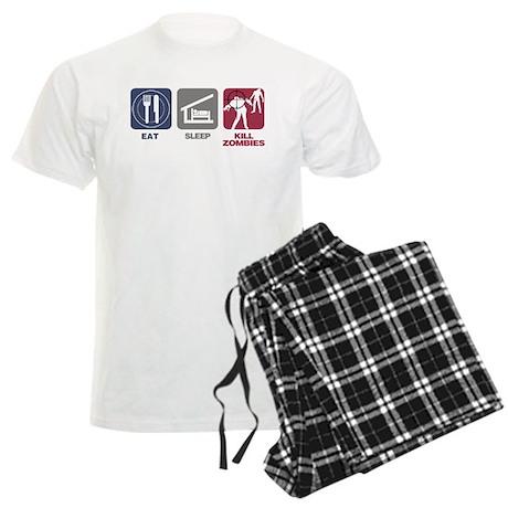 Eat Sleep Kill Zombies Men's Light Pajamas