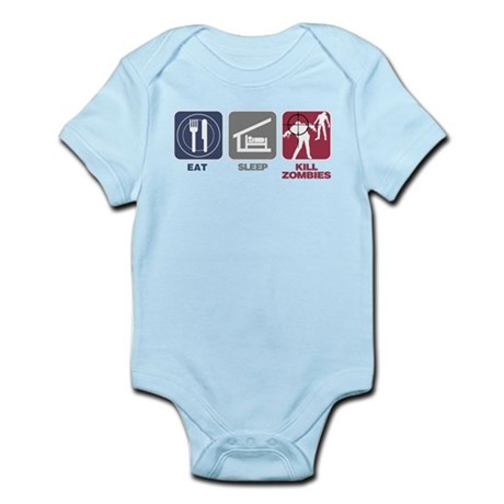 Eat Sleep Kill Zombies Infant Bodysuit
