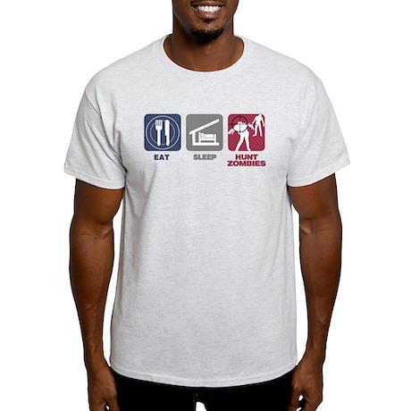 Eat Sleep Hunt Zombies Light T-Shirt