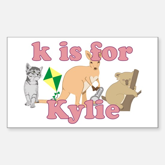 K is for Kylie Sticker (Rectangle)