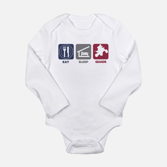 Eat Sleep Quads Long Sleeve Infant Bodysuit