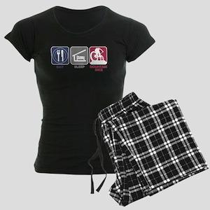Eat Sleep Mountain Bike Women's Dark Pajamas