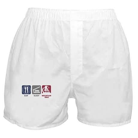 Eat Sleep Mountain Bike Boxer Shorts