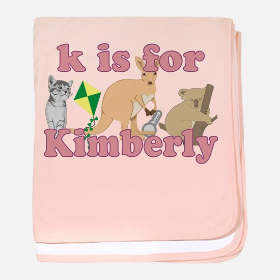 K is for Kimberly baby blanket