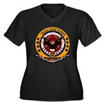 Global War o Women's Plus Size V-Neck Dark T-Shirt