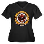 Bosnia Veter Women's Plus Size V-Neck Dark T-Shirt
