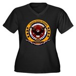 Lebanon Vete Women's Plus Size V-Neck Dark T-Shirt