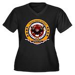 Korean War V Women's Plus Size V-Neck Dark T-Shirt