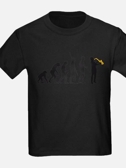 evolution saxophone player T-Shirt