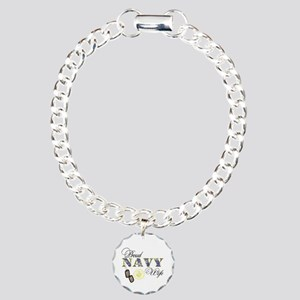 Proud Navy Wife Charm Bracelet, One Charm