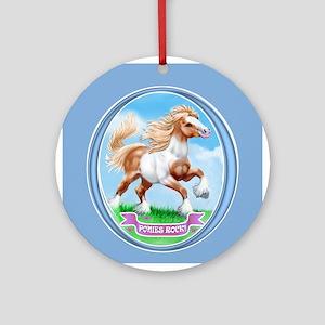 Ponies Rock Ornament (Round)