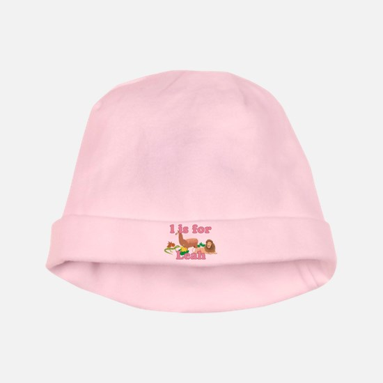 L is for Leah baby hat