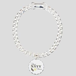Proud Navy Fiancee Charm Bracelet, One Charm