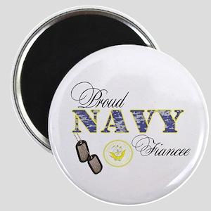 Proud Navy Fiancee Magnet