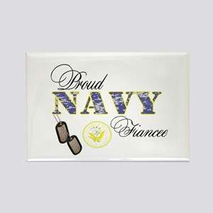 Proud Navy Fiancee Rectangle Magnet