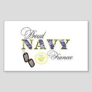 Proud Navy Fiancee Sticker (Rectangle)