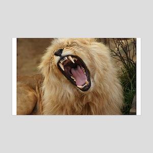 LION 38.5 x 24.5 Wall Peel