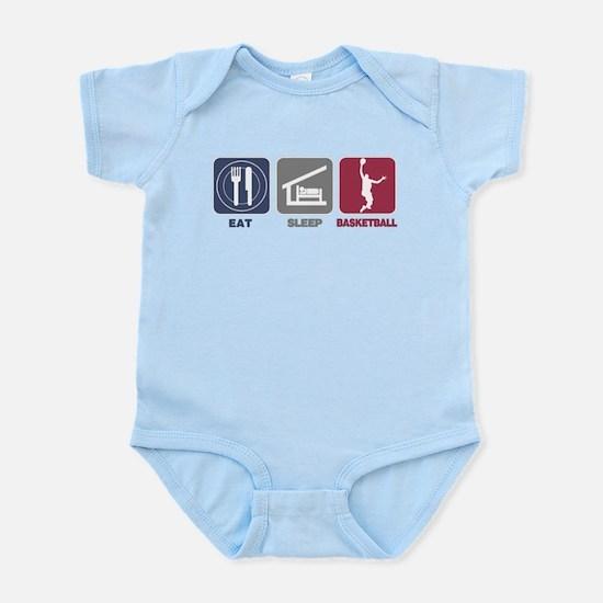 Eat Sleep Basketball Infant Bodysuit