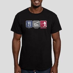 Eat Sleep Baseball Men's Fitted T-Shirt (dark)