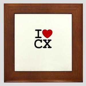 I Heart Cyclocross Framed Tile