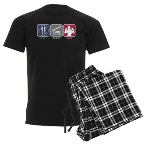 Eat Sleep MMA Men's Dark Pajamas