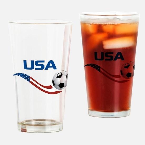 Soccer USA Pocket Size Pint Glass