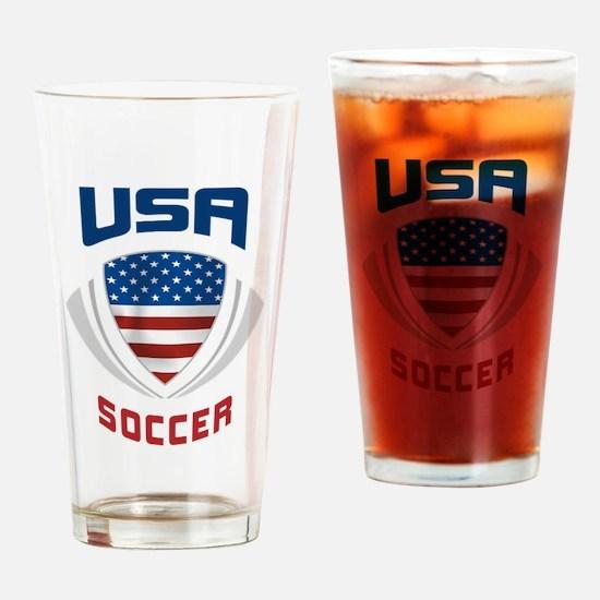 Soccer Crest USA blue Pint Glass