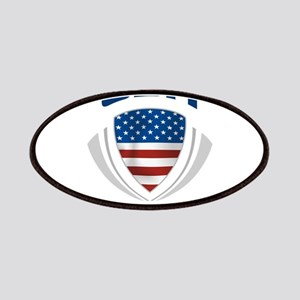 Soccer Crest USA blue Patches