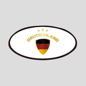 Soccer Crest DEUTSCHLAND gold Patches