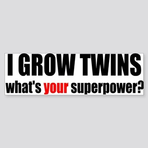 grow twins bumper Bumper Sticker