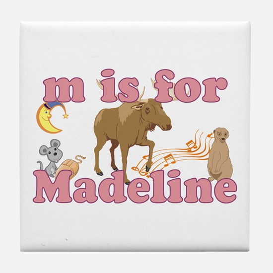 M is for Madeline Tile Coaster