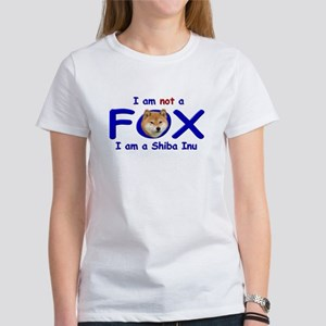 I am not a fox I am a shiba I Women's T-Shirt