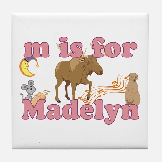 M is for Madelyn Tile Coaster