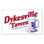 Dykesville Tavern Sticker (Rect.)